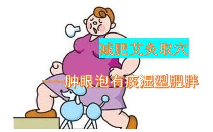 痰湿型肥胖肿眼泡,减肥艾灸取穴法
